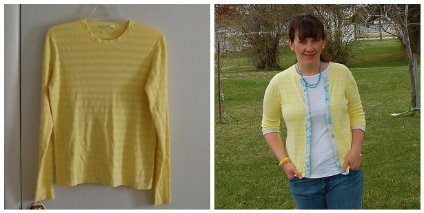 jump up and down: refashion tutorial: sweater to cardigan